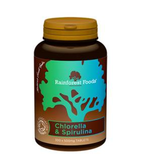 Chlorella & Spirulina BIO (300 tab x 500mg) - Rainforest Foods