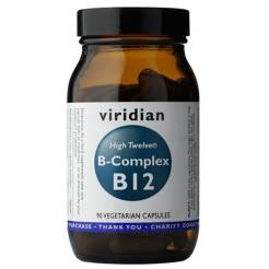Witamina B12 - High Twelve B-Complex B12 (90 kaps) - Viridian